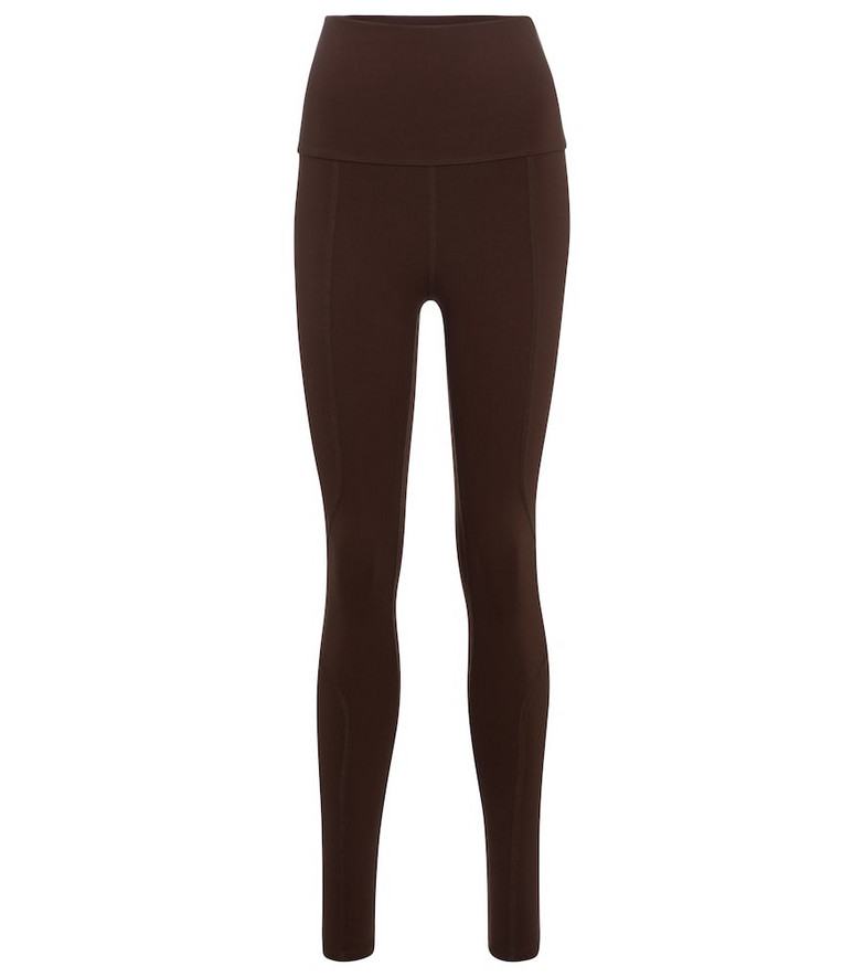 Live The Process Geometric high-rise leggings in brown