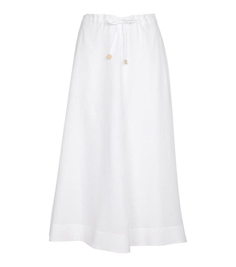 Loro Piana Exclusive to Mytheresa – Lucille linen midi skirt in white