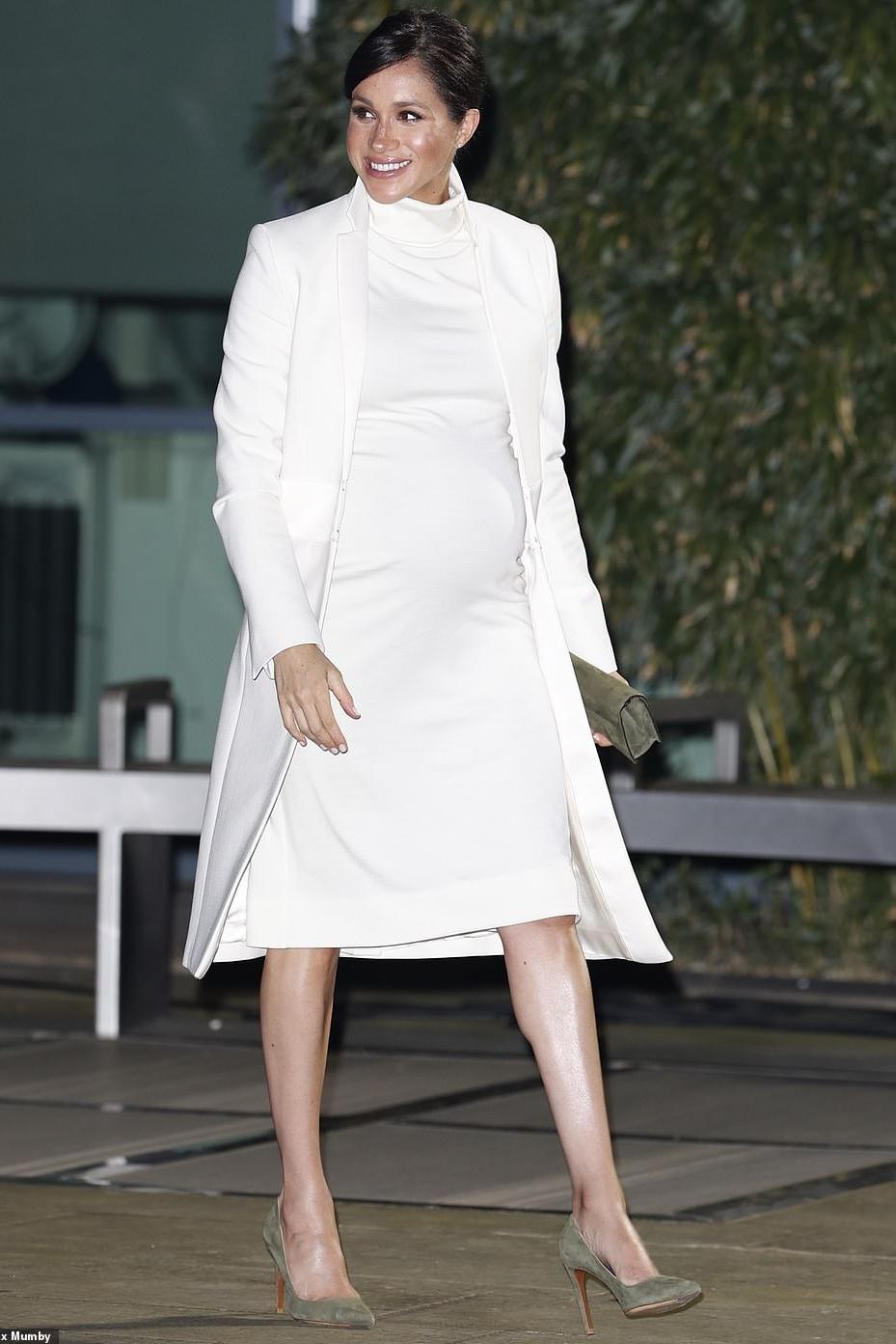 dress turtleneck turtleneck dress white white dress coat celebrity meghan markle maternity dress
