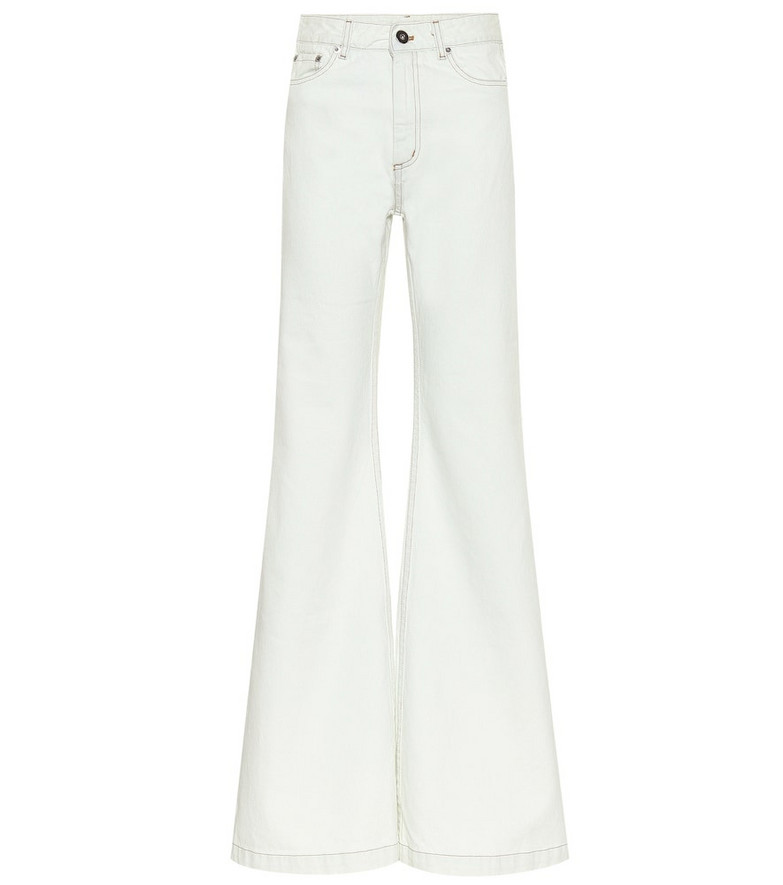 Matthew Adams Dolan High-rise wide-leg jeans in blue
