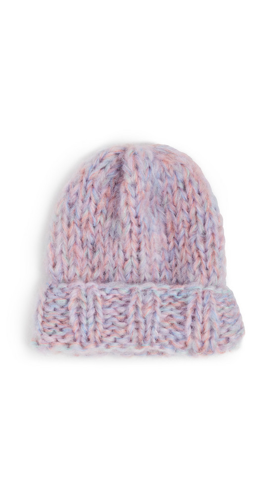 Rose Carmine Knit Hat in blush