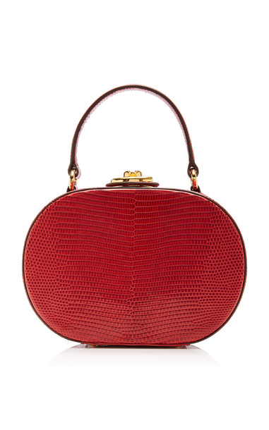 Mark Cross Gianna Lizard Bag in red