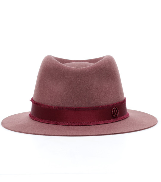 Maison Michel Andre wool felt trilby hat in red