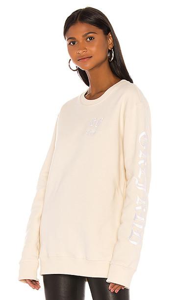 GRLFRND GF Sweatshirt in Cream
