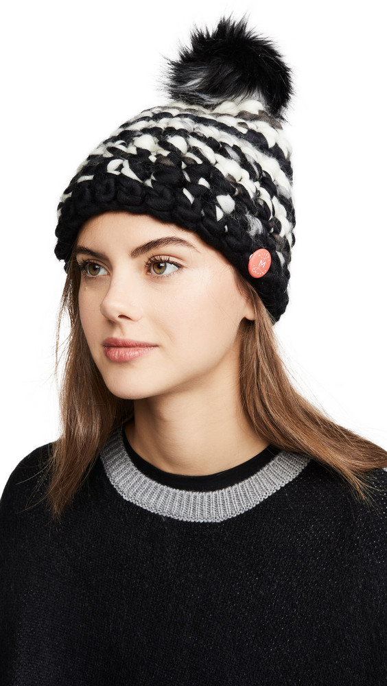 Mischa Lampert Deep Stripe Hat in black / white