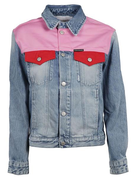 Calvin Klein Foundation Trucker Jacket in pink