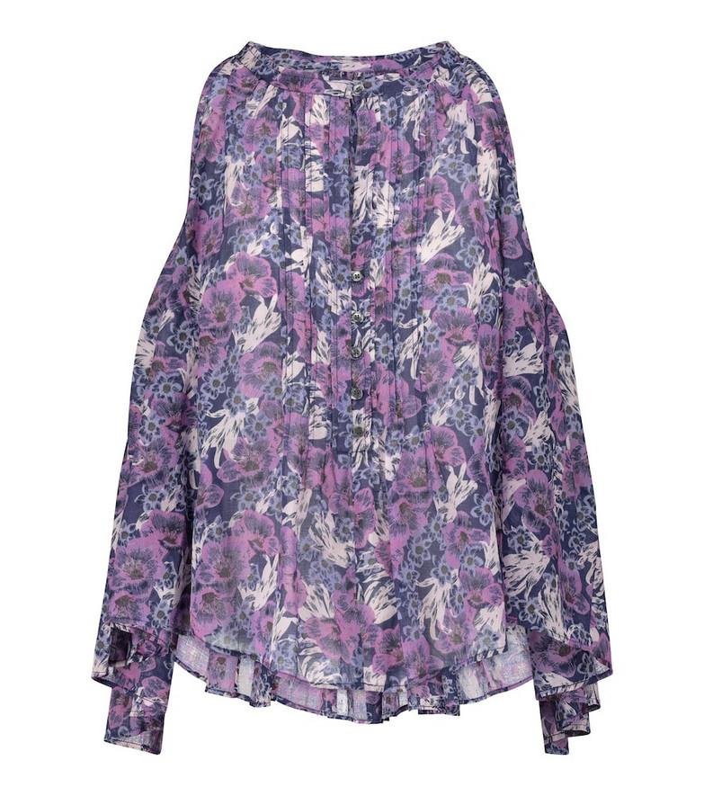 Isabel Marant, Étoile Abiti floral cotton-voile blouse in purple