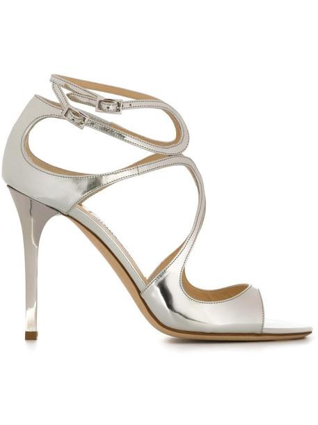 Jimmy Choo Lang sandals in metallic