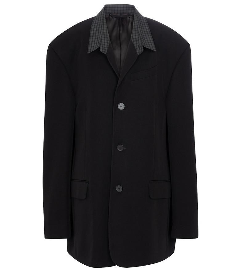 Balenciaga Oversized twill blazer in black