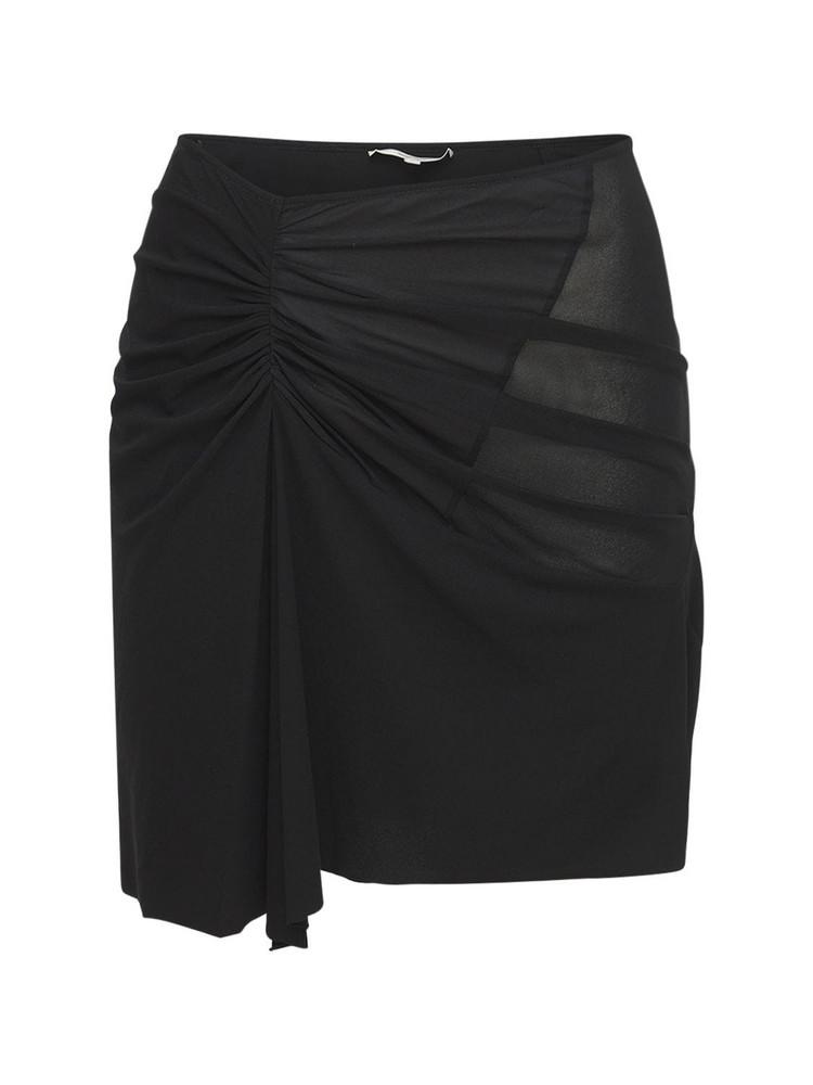 NENSI DOJAKA Asymmetric Viscose Stretch Mini Skirt in black