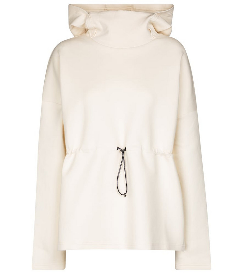 Varley Jasmine cotton-blend hoodie in beige