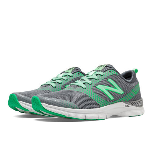 New Balance 711 Print Women's Gym Trainers Shoes - Silver, Green Oasis (WX711GP)
