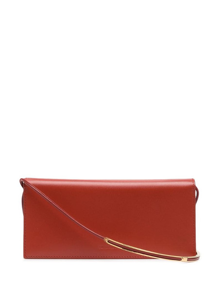 Jil Sander continental wallet bag in red