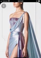 dress,dress shiny purple blue