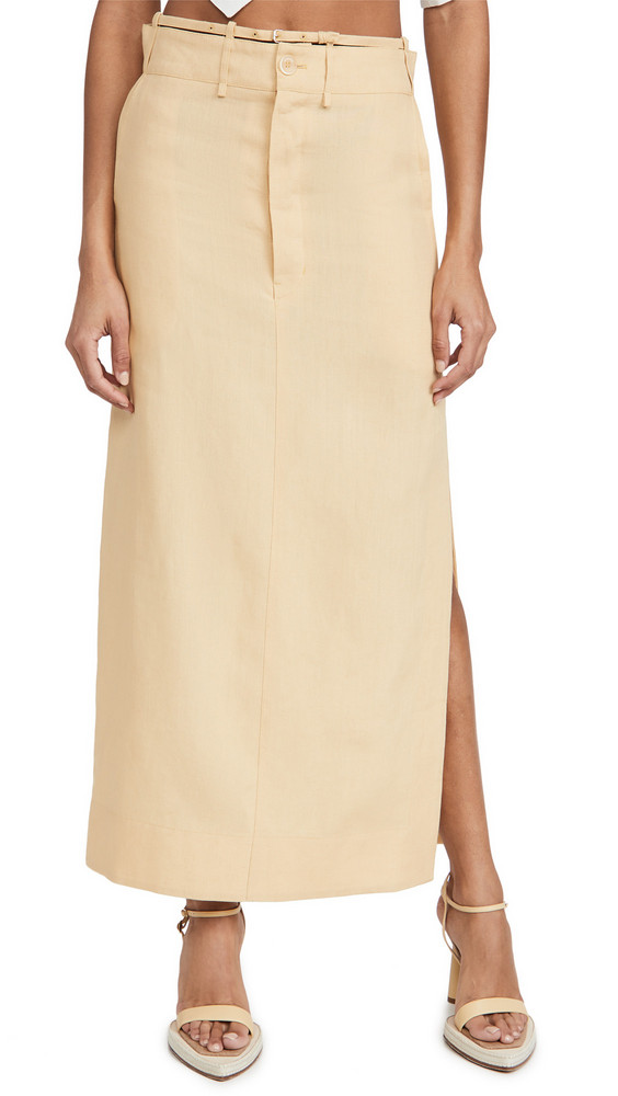 Jacquemus Terraio Skirt in sand / yellow