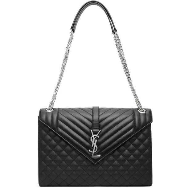 Saint Laurent Black Large Envelope Shoulder Bag