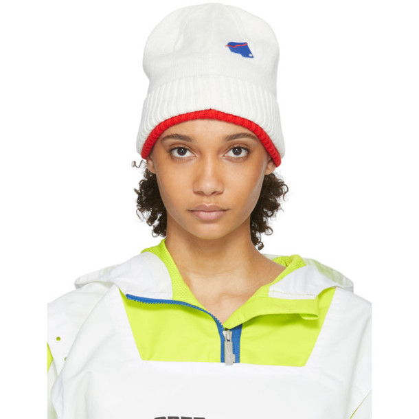 ADER error White and Red Puma Edition Knit Beanie