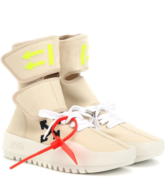 Off-White CST-001 high-top sneakers in beige