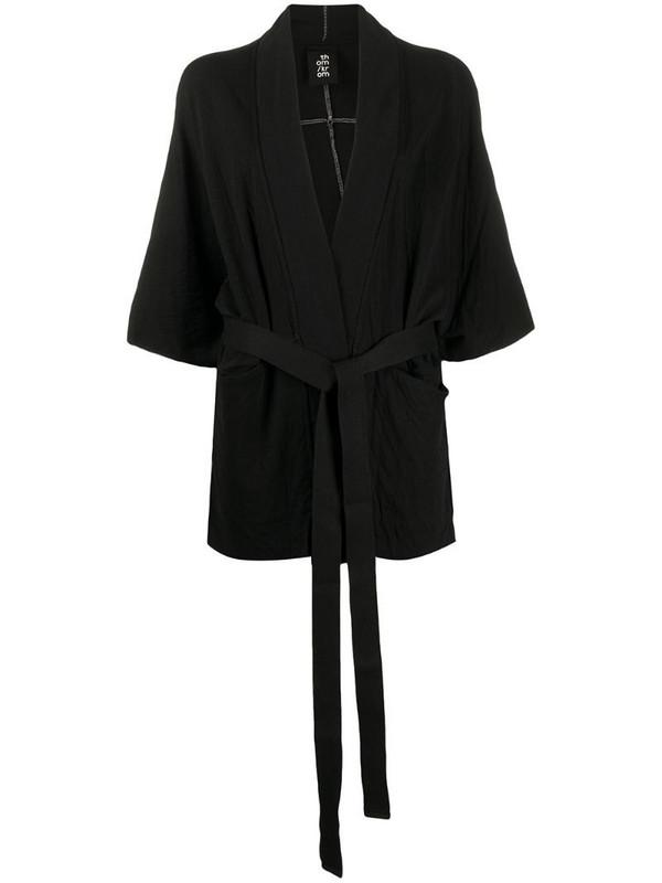 Thom Krom belted kimono jacket in black