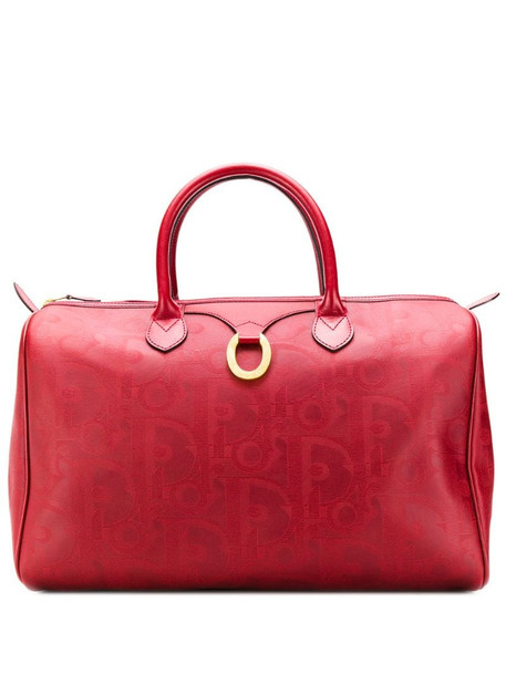 Christian Dior 1990's pre-owned patterned tote bag in red