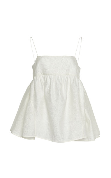 Cecilie Bahnsen Emilia Top Size: 6 in white