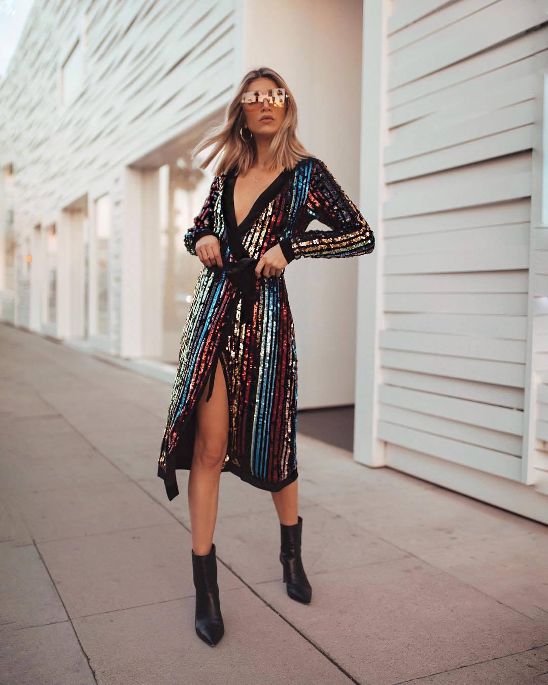 dress midi dress sequin dress long sleeve dress wrap dress black boots ankle boots heel boots