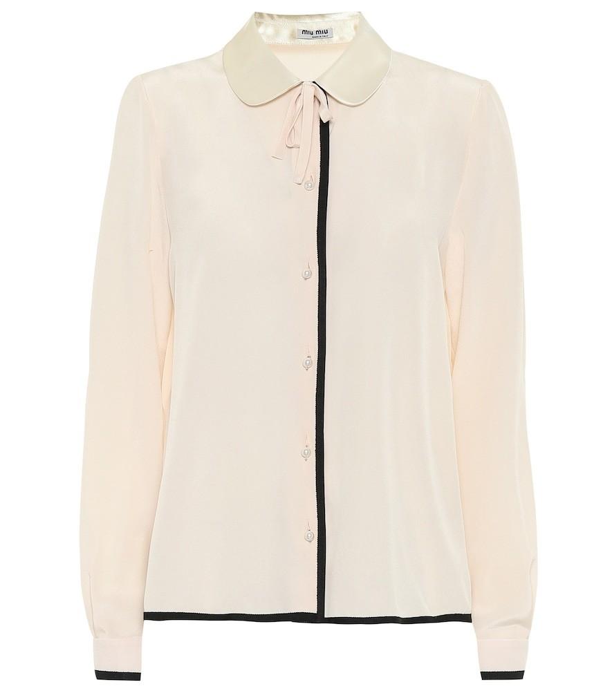 Miu Miu Silk blouse in beige