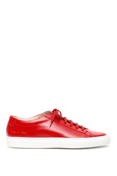 Common Projects Original Achilles Low Sneakers in red