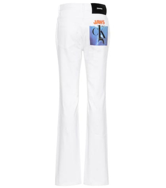 Calvin Klein 205W39NYC High-rise straight jeans in white