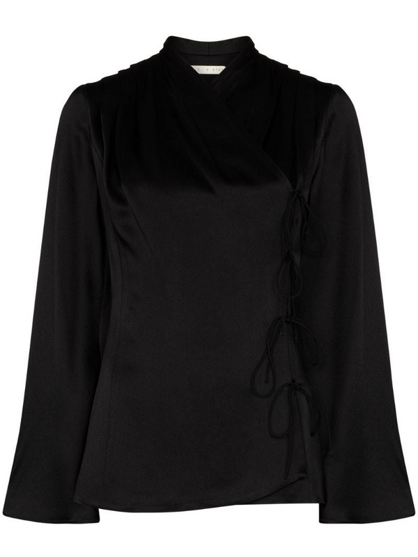 USISI SISTER wrap-style jacket in black