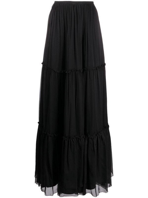 Federica Tosi tiered maxi skirt in black