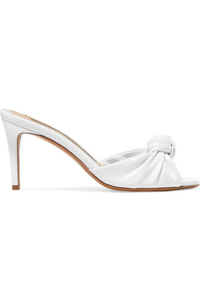 Alexandre Vauthier - Blake Knotted Leather Mules - White