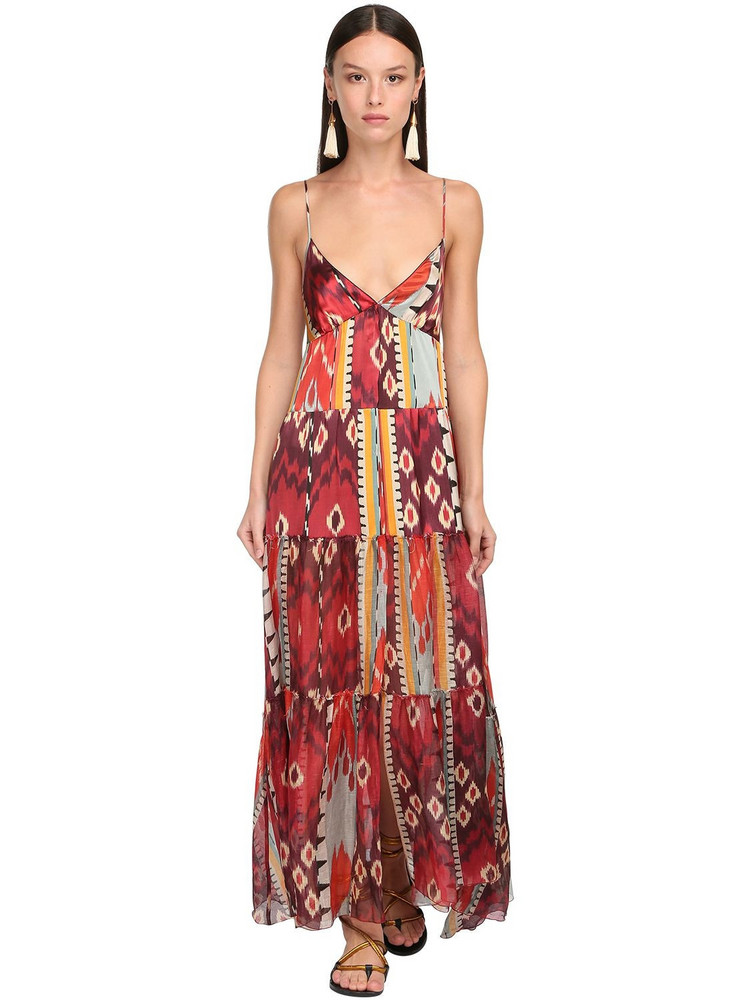 FORTE FORTE Gazare Printed Voile Long Dress