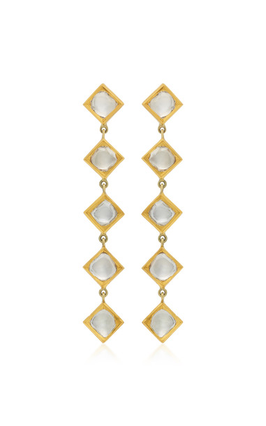 Amrapali Kundan 18K Gold and Diamond Earrings
