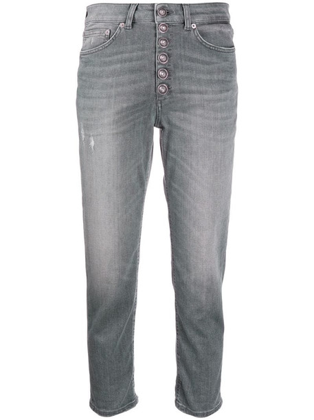Dondup cropped stonewashed jeans in grey