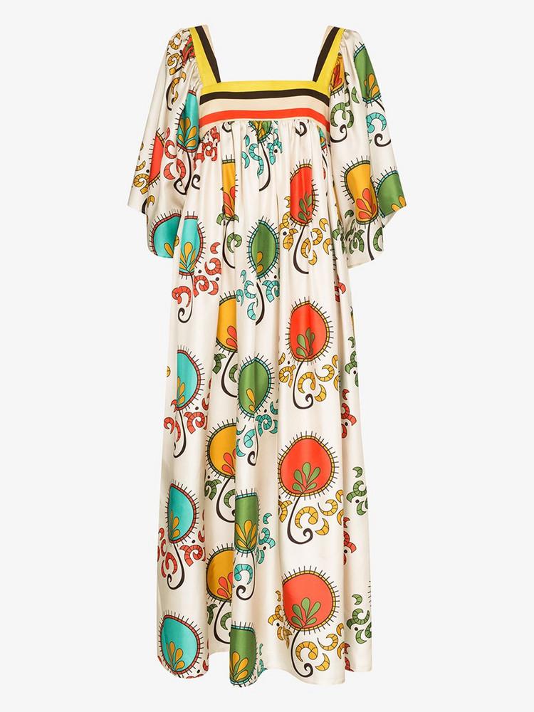 Rianna + Nina Rianna + Nina Mirilia print flared dress