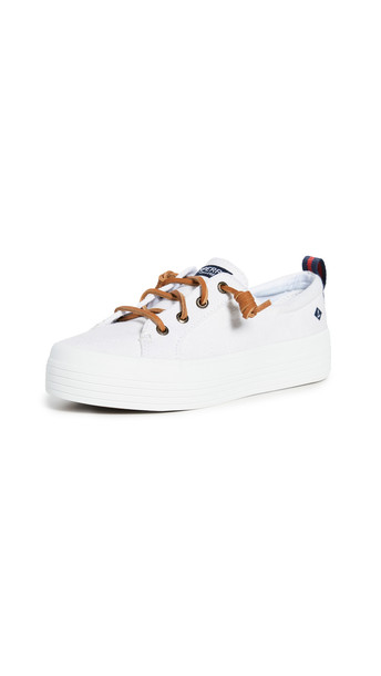 Sperry Crest Vibe Platform Sneakers in white