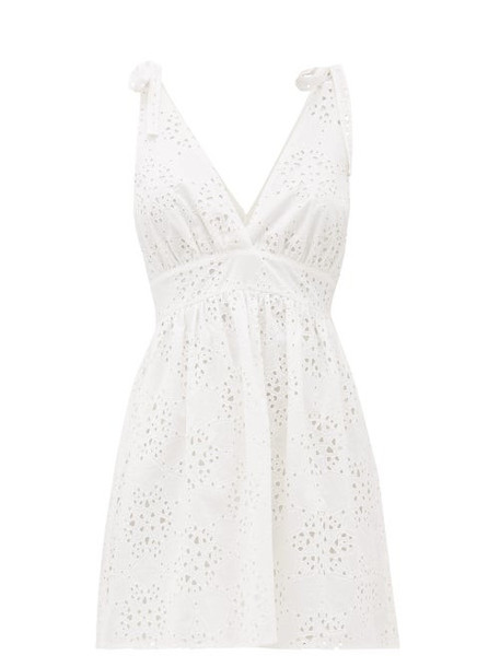 Sir - Celeste Broderie Anglaise Mini Dress - Womens - Ivory