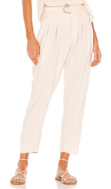 Indah Shadow Zip Front Trouser in Ivory
