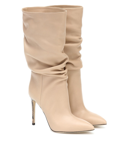 Paris Texas Leather ankle boots in beige