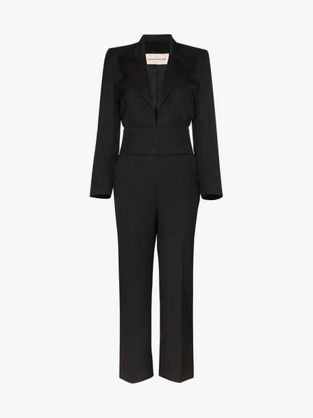 Alexandre Vauthier tuxedo wool jumpsuit in black