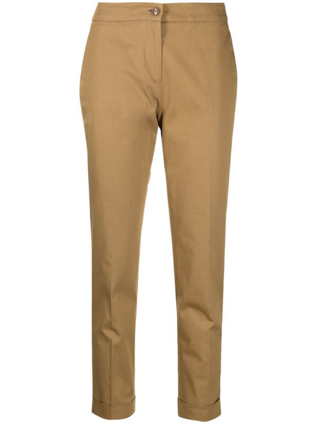 Etro cropped tailored trousers in brown