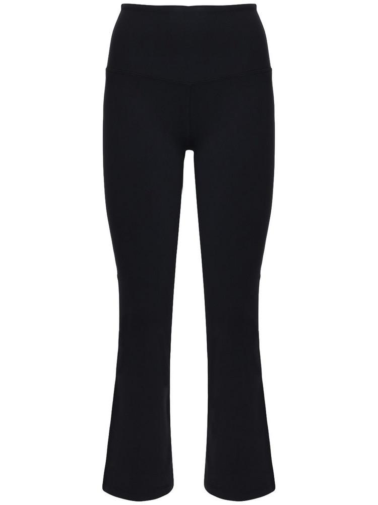 SPLITS59 Raquel High Waist Cropped Pants in black