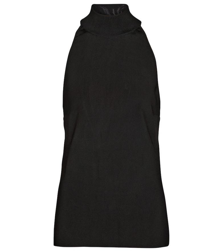 Givenchy Jersey mockneck top in black