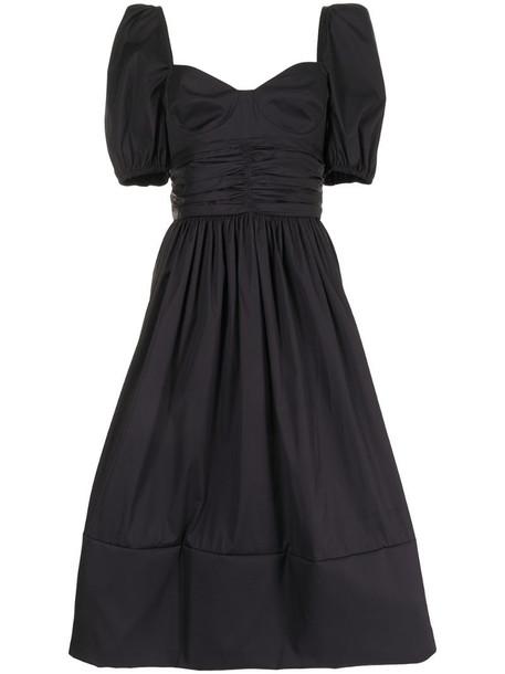 Brock Collection Rosette cotton midi dress in black