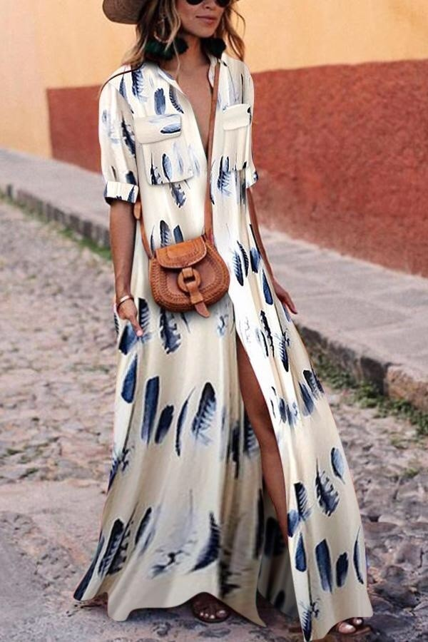 dress julie sarinana sincerely jules blue and white feather design dress