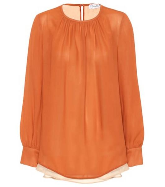 Max Mara Gettata silk blouse in orange