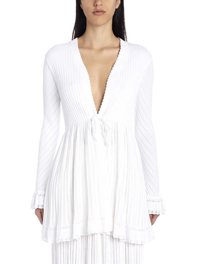 Alaia 'falbalas' Cardigan in white