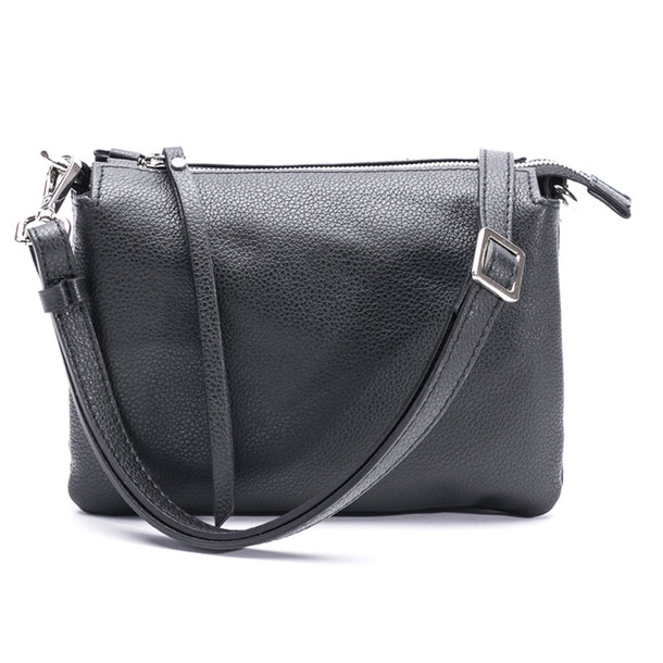 Gianni Chiarini Leather Shoulder Bag in black