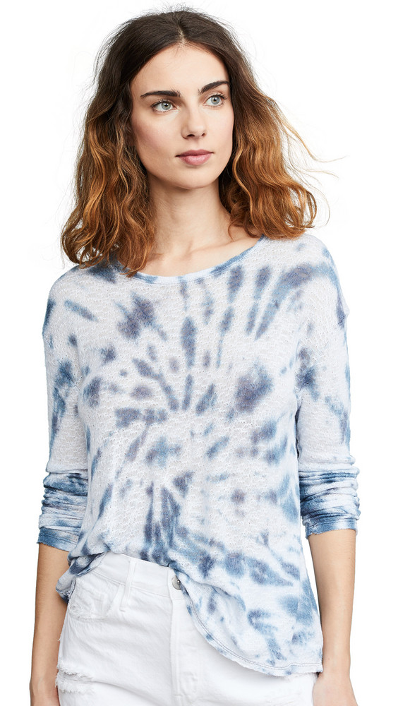 Generation Love Judi Tie Dye Long Sleeve T-Shirt in blue